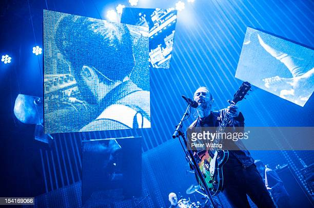 Thom Yorke of Radiohead performs on stage at the LanxessArena on October 15 2012 in Cologne Germany