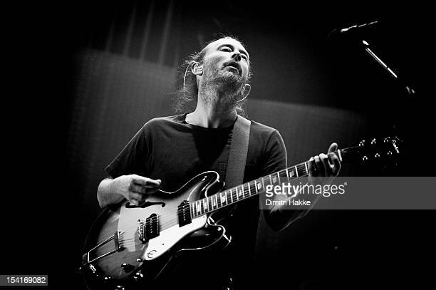 Thom Yorke of Radiohead performs on stage at Ziggo Dome on October 14 2012 in Amsterdam Netherlands