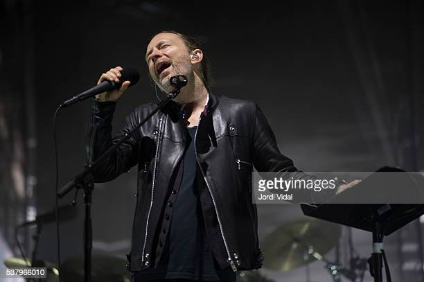 Thom Yorke of Radiohead performs on stage during Primavera Sound Festival Day 3 at Parc del Forum in Barcelona Spain