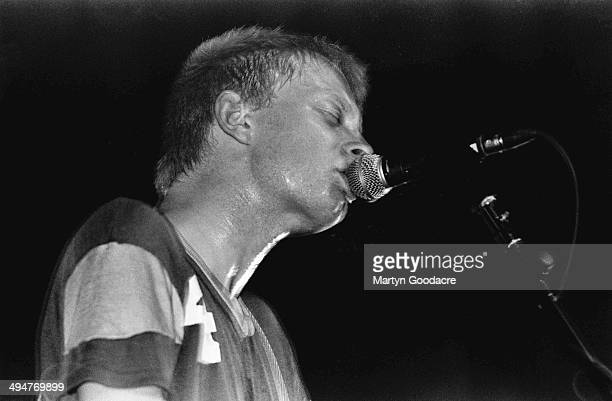 Thom Yorke of Radiohead performs on stage during their UK tour United Kingdom 1995