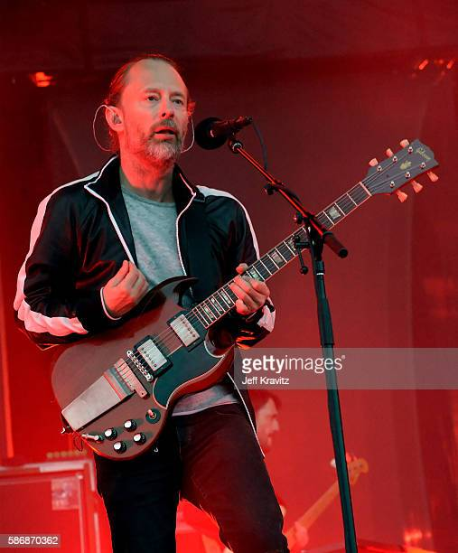 Thom Yorke of Radiohead performs on the Lands End Stage during the 2016 Outside Lands Music And Arts Festival at Golden Gate Park on August 6 2016 in...