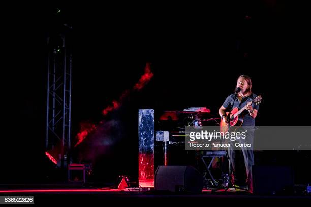 Thom Yorke of the group Radiohead perform on stage on August 20 2017 in Macerata Italy