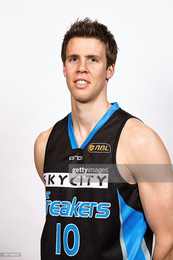 Thomas Abercrombie of the New Zealand Breakers poses for a photo during the official 2013/14 NBL Headshots Session at The Entertainment Quarter on September 19, 2013 in Sydney, Australia.