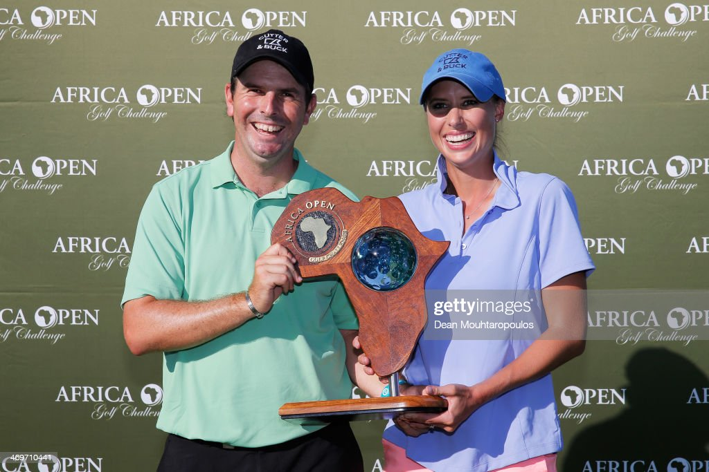 <a gi-track='captionPersonalityLinkClicked' href=/galleries/search?phrase=Thomas+Aiken&family=editorial&specificpeople=2088884 ng-click='$event.stopPropagation()'>Thomas Aiken</a> of South Africa and his wife and caddie Kate Aiken pose with the trophy after winning the Africa Open at East London Golf Club on February 16, 2014 in East London, South Africa.