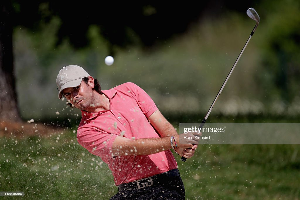 Thomas Aiken of South Africa during the final round of the Open de Espana at the Real Club de Golf El Prat on May 8 2011 in Barcelona Spain