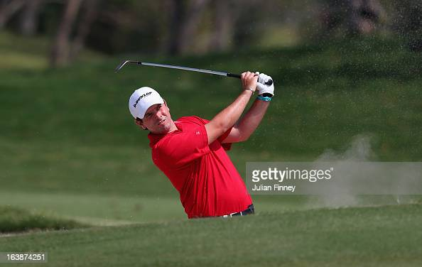 Thomas Aiken of South Africa in action during day four of the Avantha Masters at Jaypee Greens Golf Club on March 17 2013 in Delhi India