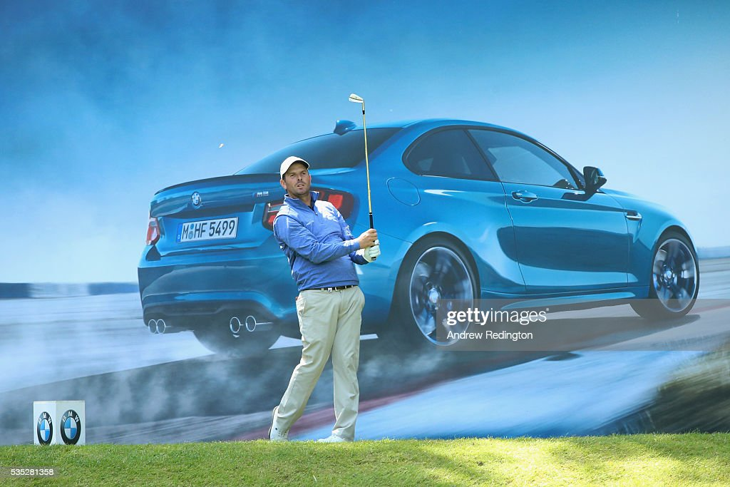 <a gi-track='captionPersonalityLinkClicked' href=/galleries/search?phrase=Thomas+Aiken&family=editorial&specificpeople=2088884 ng-click='$event.stopPropagation()'>Thomas Aiken</a> of South Africa tees off on the 10th hole during day four of the BMW PGA Championship at Wentworth on May 29, 2016 in Virginia Water, England.