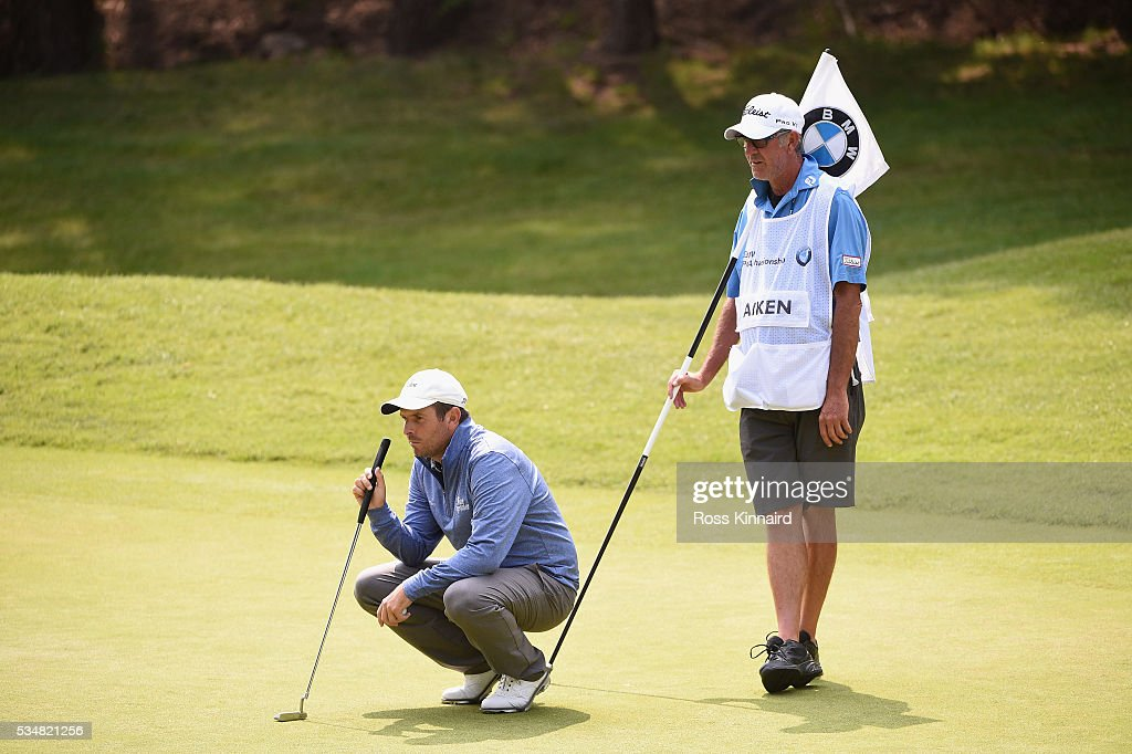 <a gi-track='captionPersonalityLinkClicked' href=/galleries/search?phrase=Thomas+Aiken&family=editorial&specificpeople=2088884 ng-click='$event.stopPropagation()'>Thomas Aiken</a> of South Africa waits on the 13th green during day three of the BMW PGA Championship at Wentworth on May 28, 2016 in Virginia Water, England.