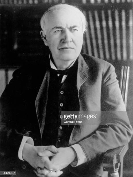 Thomas Alva Edison American inventor of the carbon telephone transmitter phonograph and incandescent lamp with carbon filament