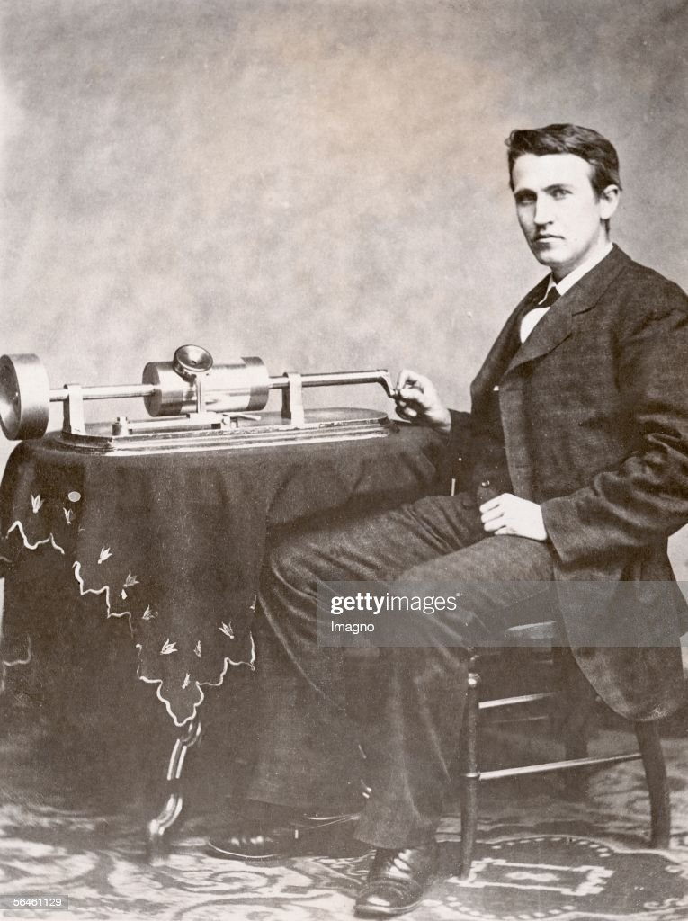 Image result for edison's phonograph  getty images