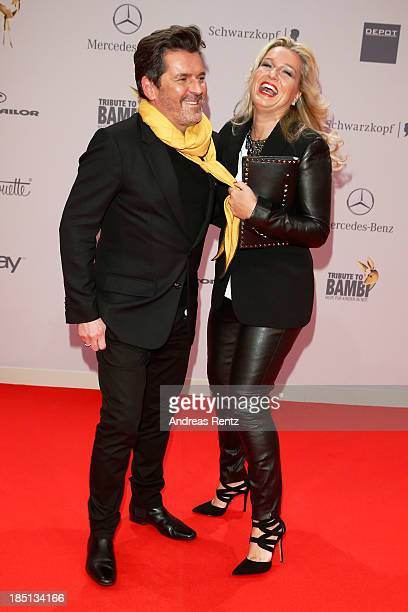 Thomas Anders and Claudia Anders arrive at Tribute To Bambi at Station on October 17 2013 in Berlin Germany