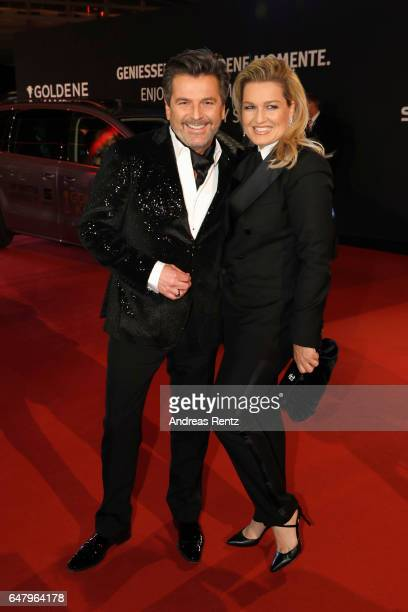Thomas Anders and Claudia Anders arrive for the Goldene Kamera on March 4 2017 in Hamburg Germany