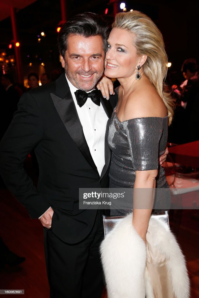 Thomas Anders and Claudia Anders attend 'Goldene Kamera 2013' at Axel Springer Haus on February 2, 2013 in Berlin, Germany.