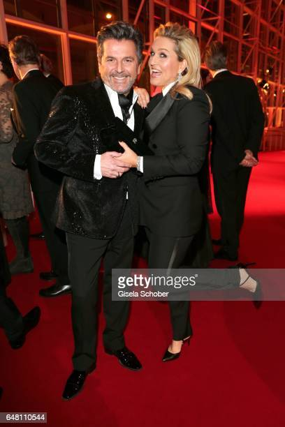 Thomas Anders and his wife Claudia Anders during the Goldene Kamera reception at Messe Hamburg on March 4 2017 in Hamburg Germany