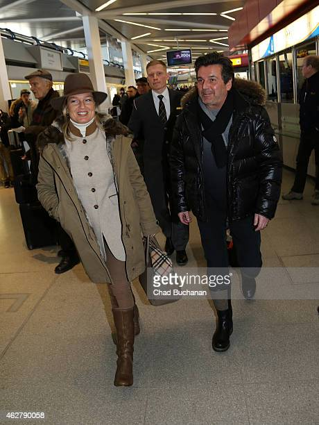 Thomas Anders and his wife Claudia sighted at Tegel Airport on February 5 2015 in Berlin Germany