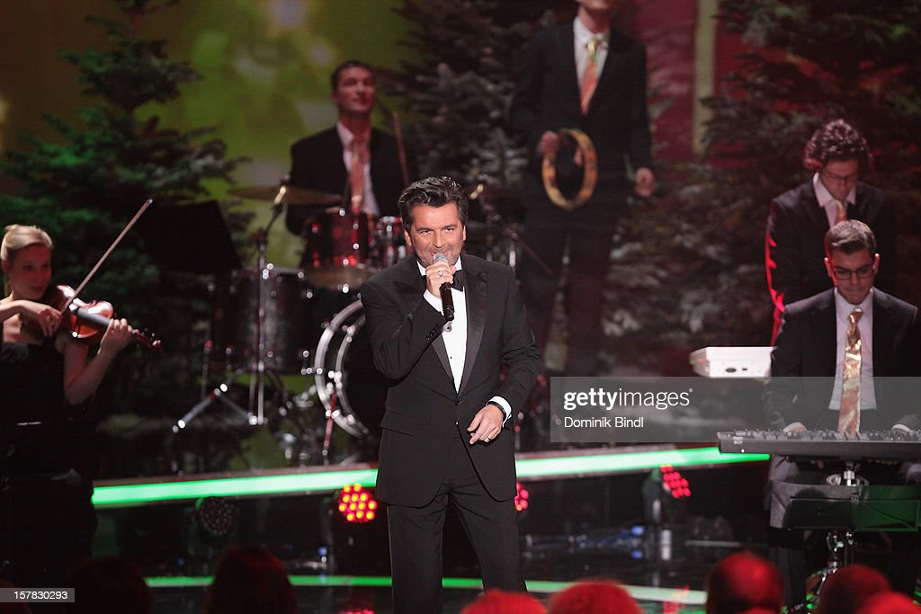Thomas Anders attends 'Die Schoensten Weihnachtshits Mit Carmen Nebel' Show on December 6, 2012 in Munich, Germany.
