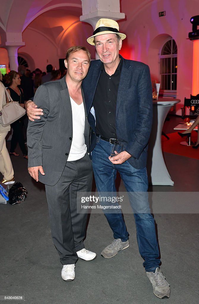 Thomas Arnold and Herbert Knaup during the Audi Director's Cut during the Munich Film Festival 2016 at Praterinsel on June 25, 2016 in Munich, Germany.