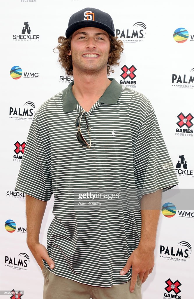 JJ Thomas arrives at the X Games Celebrity Skins Classic golf tournament for charity at Trump National Golf Club in Rancho Palos Verdes