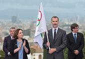 King Felipe Of Spain Attends Commemoration Of Olympics...