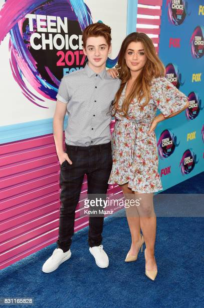 Thomas Barbusca and Brielle Barbusca attend the Teen Choice Awards 2017 at Galen Center on August 13 2017 in Los Angeles California