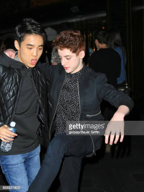 Thomas Barbusca and Lance Lim are seen on March 26 2017 in Los Angeles California