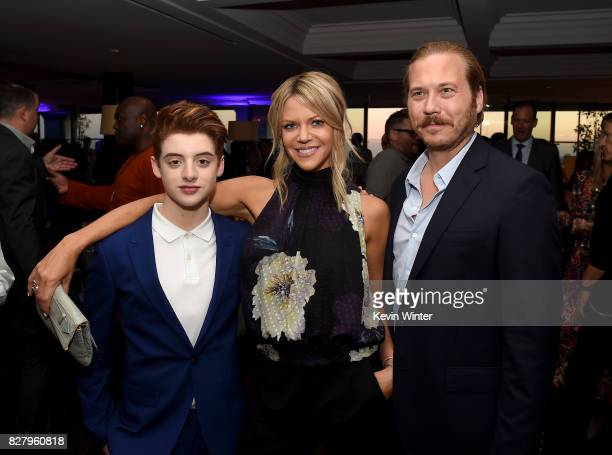 Thomas Barbusca Kaitlin Olson and Scott MacArthur attend the FOX 2017 Summer TCA Tour after party on August 8 2017 in West Hollywood California