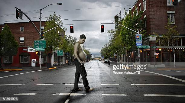 Thomas Beatie poses for a portrait May 28 2008 in Bend Oregon Jeans by Corleone Photographer Art Direction and Concept Regine Mahaux Christophe...