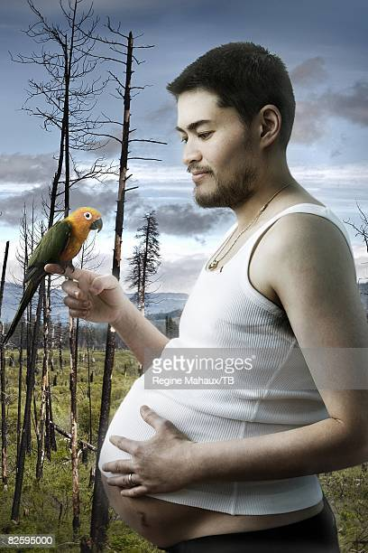 Thomas Beatie poses for a portrait May 28 2008 in Bend Oregon Jeans by CorleonePhotographer Art Direction and Concept Regine Mahaux Christophe...