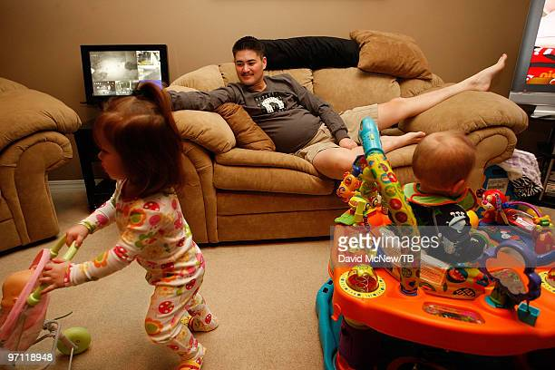 Thomas Beatie spends time with daughter Susan Juliette Beatie and son Austin Alexander Beatie on February 17 2010 in Bend Oregon Thomas a transgender...