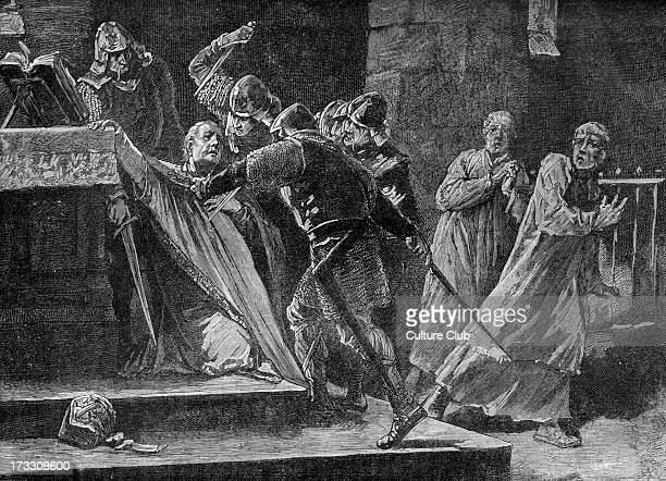Thomas Becket 's murder in Canterbury Cathedral 29 December 1170 Becket was murdered by four knights of Henry II of England Beckett angered the king...
