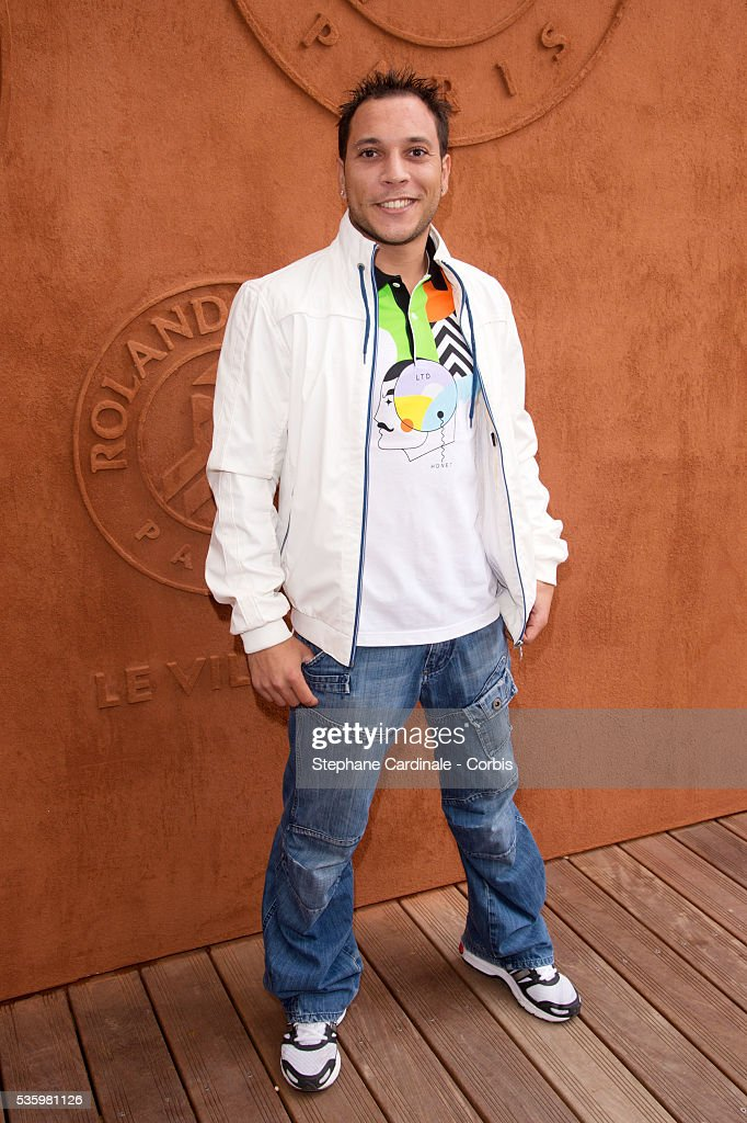 Thomas Bouhail attends the Roland Garros French Tennis Open 2014.