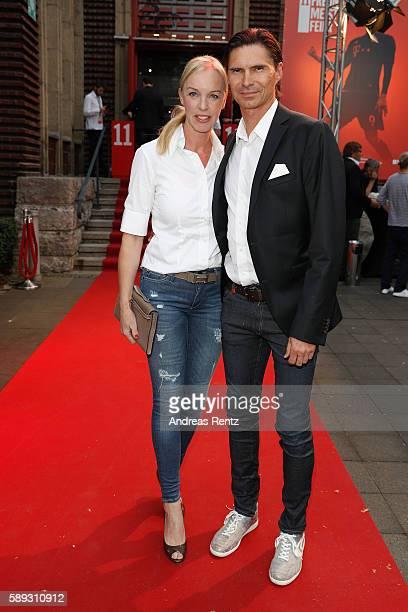 Thomas Brdaric and partner attend the 11FREUNDE Meisterfeier 2016 at Rheinterrassen on August 13 2016 in Duesseldorf Germany