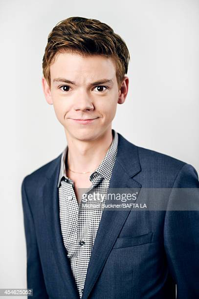 Thomas Brodie Sangster poses for a portrait at the BAFTA luncheon on August 23 2014 in Los Angeles California