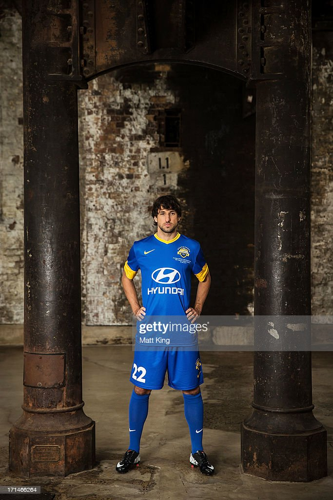 <a gi-track='captionPersonalityLinkClicked' href=/galleries/search?phrase=Thomas+Broich&family=editorial&specificpeople=676225 ng-click='$event.stopPropagation()'>Thomas Broich</a> poses during the A-League All Stars jersey launch at Carriageworks on June 25, 2013 in Sydney, Australia.
