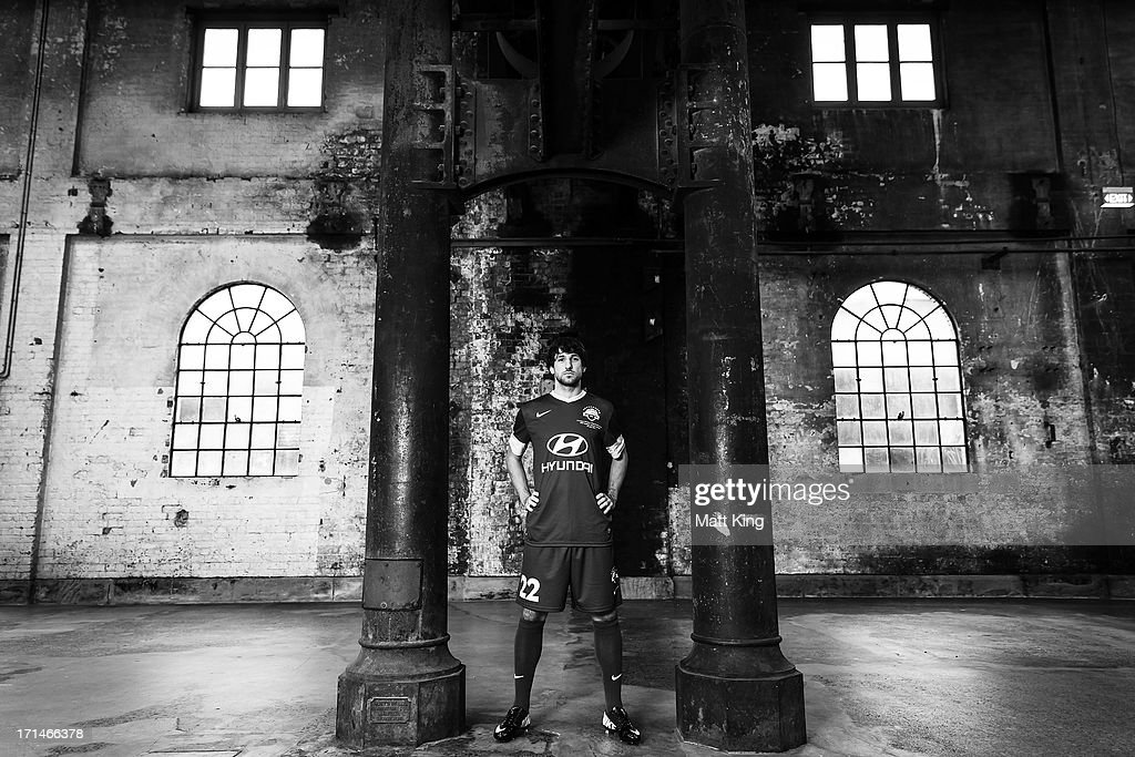 Thomas Broich poses during the A-League All Stars jersey launch at Carriageworks on June 25, 2013 in Sydney, Australia.