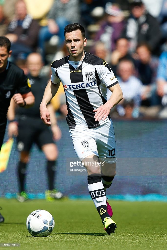 Thomas Bruns of Heracles Almelo during the Dutch Eredivisie match between Heracles Almelo and ADO Den Haag at Polman stadium on May 01, 2016 in Almelo, The Netherlands