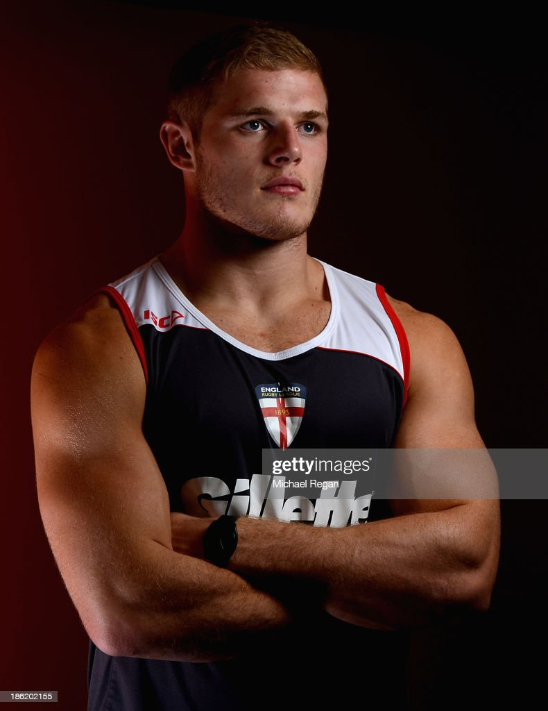 Thomas Burgess of England poses during the England media session for the Rugby League World Cup on October 29, 2013 in Loughborough, England.
