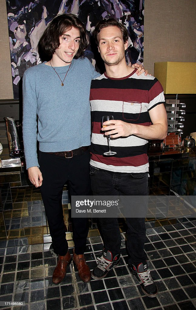 Thomas Campbell (L) and Max Westwell attend an exclusive preview of the 'Thomas Campbell Paints Lily and Lionel' collection of wearable art, in association with the English National Ballet, at CoutureLab on June 25, 2013 in London, England.