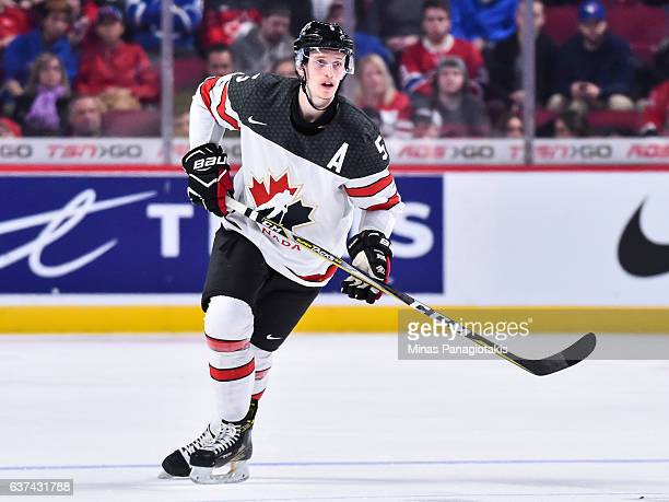 Thomas Chabot of Team Canada skates during the 2017 IIHF World Junior Championship quarterfinal game against Team Czech Republic at the Bell Centre...