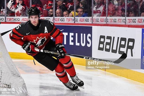 Thomas Chabot of Team Canada skates during the 2017 IIHF World Junior Championship semifinal game against Team Sweden at the Bell Centre on January 4...