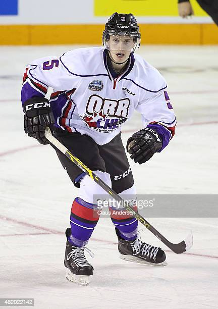 Thomas Chabot of Team Orr skates against Team Cherry in the 2015 BMO CHL/NHL Top Prospects Game at the Meridian Centre on January 22 2015 in...