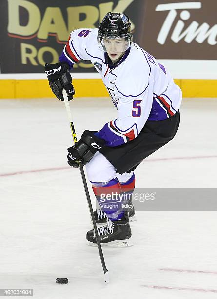 Thomas Chabot of Team Orr skates during the 2015 BMO CHL/NHL Top Prospects Game against Team Cherry at the Meridian Centre on January 22 2015 in St...