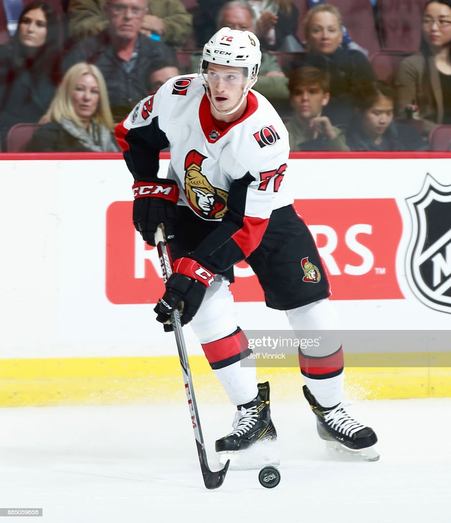 f145d35ee ... Thomas Chabot 72 of the Ottawa Senators skates up ice during their NHL  game against ...