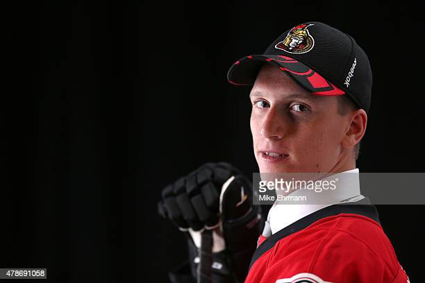 Thomas Chabot poses for a portrait after being selected 18th overall by the Ottawa Senators during the 2015 NHL Draft at BBT Center on June 26 2015...