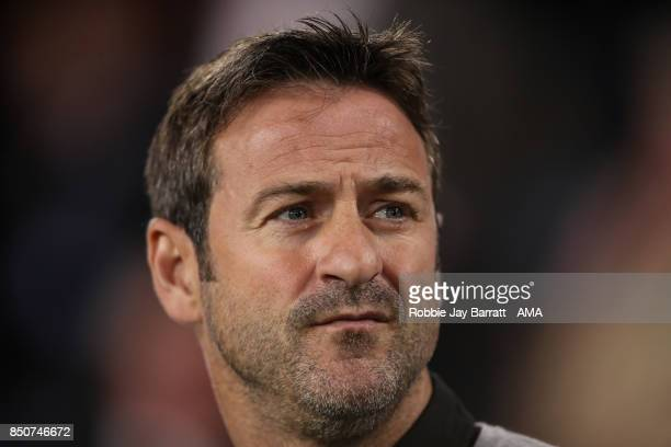 Thomas Christiansen manager / head coach of Leeds United during the Carabao Cup Third Round match between Burnley and Leeds United at Turf Moor on...