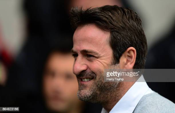 Thomas Christiansen Manager of Leeds United during the Sky Bet Championship match between Bristol City and Leeds United at Ashton Gate on October 21...