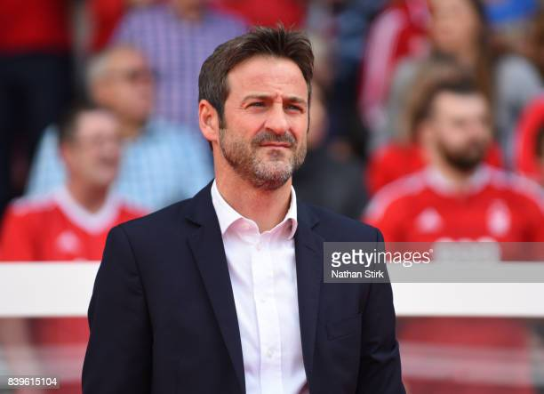 Thomas Christiansen manager of Leeds United looks on during the Sky Bet Championship match between Nottingham Forest and Leeds United at City Ground...