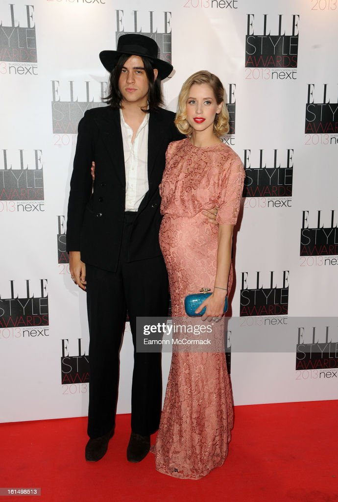 Thomas Coen and Peaches Geldof attend the Elle Style Awards 2013 on February 11, 2013 in London, England.