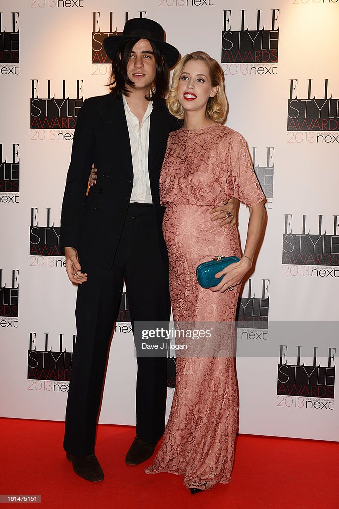 Thomas Cohen and Peaches Geldof attend The Elle Style Awards 2013 at The Savoy Hotel on February 11, 2013 in London, England.