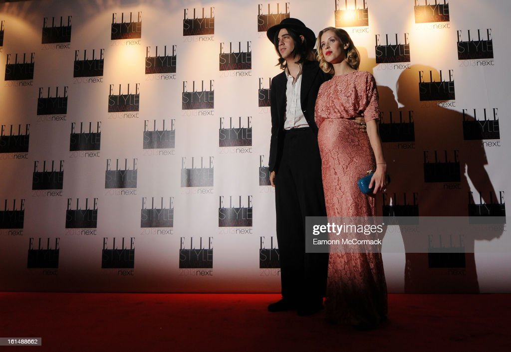 Thomas Cohen and Peaches Geldof attend the Elle Style Awards 2013 on February 11, 2013 in London, England.